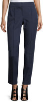 Trina Turk Mid-Rise Bi-Stretch Straight-Leg Cotton Pants