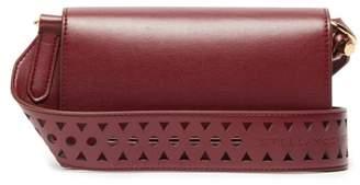 Stella McCartney Perforated-logo Mini Leather Shoulder Bag - Womens - Burgundy
