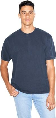 American Apparel Men's French Terry Crewneck Short Sleeve T-Shirt