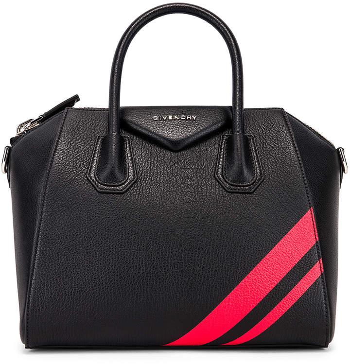 Givenchy Small Antigona Bag in Black & Red   FWRD