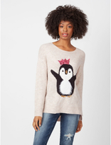 George Textured Sequin Penguin Christmas Jumper