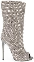 Philipp Plein Bahamas booties - women - Leather/Rhinestone - 36