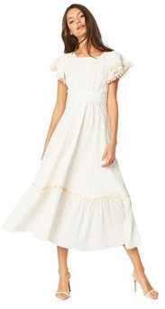 MISA The Sarina Dress In Ivory Gold - L