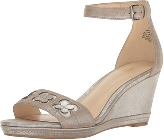 Nine West Women's Julian Metallic Wedge Sandal