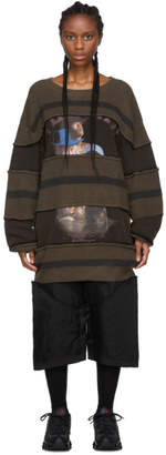 Telfar Brown Striped Knit Crewneck