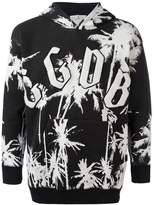 Golden Goose Deluxe Brand palm tree print hoodie