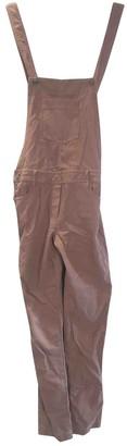 Sessun Beige Cotton Jumpsuit for Women