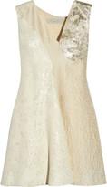 Stella McCartney Anita cloqué and metallic jacquard mini dress