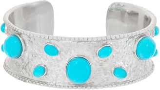 Turquoise Bold Cuff, Sterling Silver