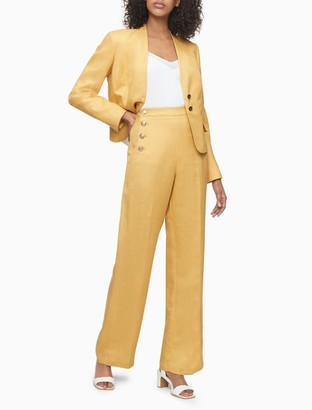 Calvin Klein Button-Front Suit Pants