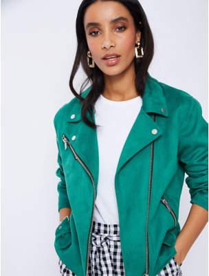 d9d123a428c6 Women's Green Faux Suede Jacket - ShopStyle UK