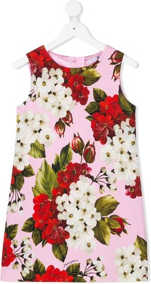 Dolce & Gabbana Floral Sleeveless Shift Dress