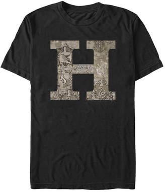 Fifth Sun Harry Potter Men Hogwarts H Vintage-Inspired Logo Short Sleeve T-Shirt