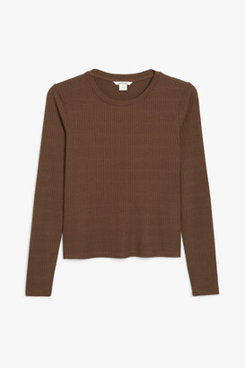 Monki Long-sleeved fitted top
