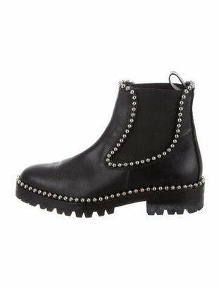 Alexander Wang Leather Studded Accents Chelsea Boots Black