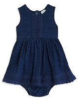 Splendid Girls' Lace-Trimmed Dress & Bloomers Set - Baby