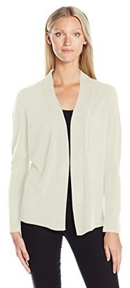 Sag Harbor Women's Long Sleeve Open Front Cardigan