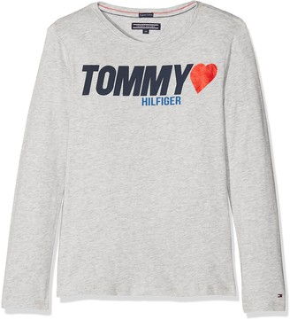 Tommy Hilfiger Girl's AME Tommy Heart Tee L/s T-Shirt