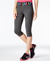 Material Girl Active Juniors' Cropped Graphic-Print Leggings, Only at Macy's