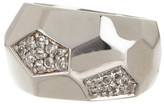 Roberto Coin Sterling Silver White Topaz Faceted Ring - Size 6.5