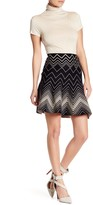 Max Studio Twirl Print Pleated Skirt