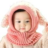 Soficy Lovely Winter Baby Kids Girls Boys Warm Woolen Coif Hood Scarf Caps Hats