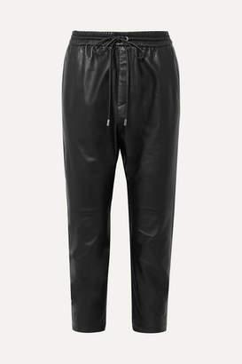 Nili Lotan Monaco Leather Straight-leg Pants - Black