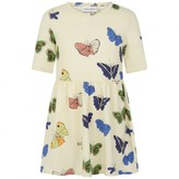 Mini Rodini Mini RodiniGirls Ivory Butterfly Print Dress