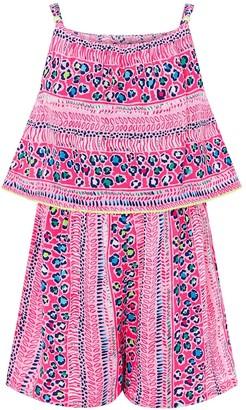 Monsoon Girls SustainableAva Playsuit - Pink