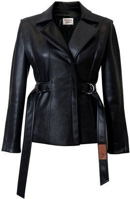 Diana Arno Karen Vegan Leather Biker Jacket