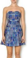 Wow Couture Blue Multi Sweetheart Dress
