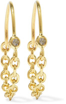 Pamela Love Suspension Gold-plated Topaz Earrings - one size