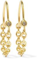 Pamela Love Suspension Gold-plated Topaz Earrings