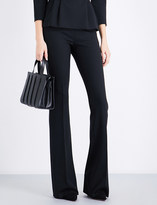Max Mara Baita flared stretch-wool trousers