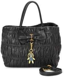Prada Vintage Nappa Gaufre 2-Way Top Handle Bag