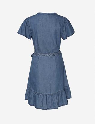 Paige Calie tencel and cotton-blend mini wrap dress