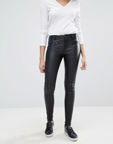 Only Natalie Rock Coated Waxed Jeans