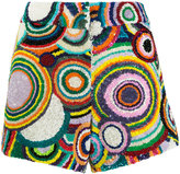 Manish Arora circle pattern sequin shorts - women - Nylon/Polyester - 36