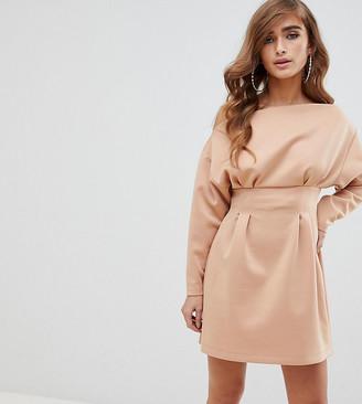ASOS DESGIN Petite one shoulder mini dress in scuba