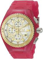 Technomarine Women's TM-115264 Cruise Jellyfish Gold/Pink Silicone Watch
