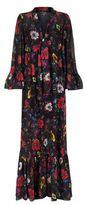 McQ by Alexander McQueen Printed Ruffle Maxi Dress