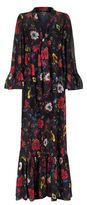 McQ Printed Ruffle Maxi Dress