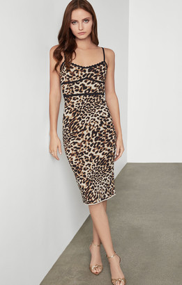 BCBGMAXAZRIA Leopard Cocktail Dress