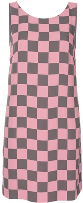 Emporio Armani Check-Print Shift Dress