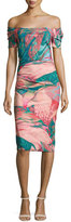 La Petite Robe di Chiara Boni Briseide Off-the-Shoulder Floral Cocktail Dress, Multicolor