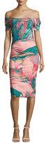 La Petite Robe di Chiara Boni Briseide Off-the-Shoulder Floral Cocktail Dress, Multicolor