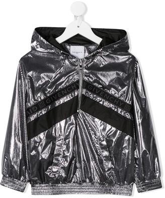 Givenchy Kids Logo Zipped Hooded Jacket