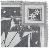 Givenchy frayed star print scarf
