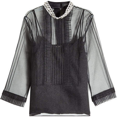 Marc Jacobs Pintuck Embellished Blouse