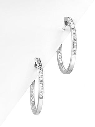 Diana M Fine Jewelry 14K 0.32 Ct. Tw. Diamond Hoops